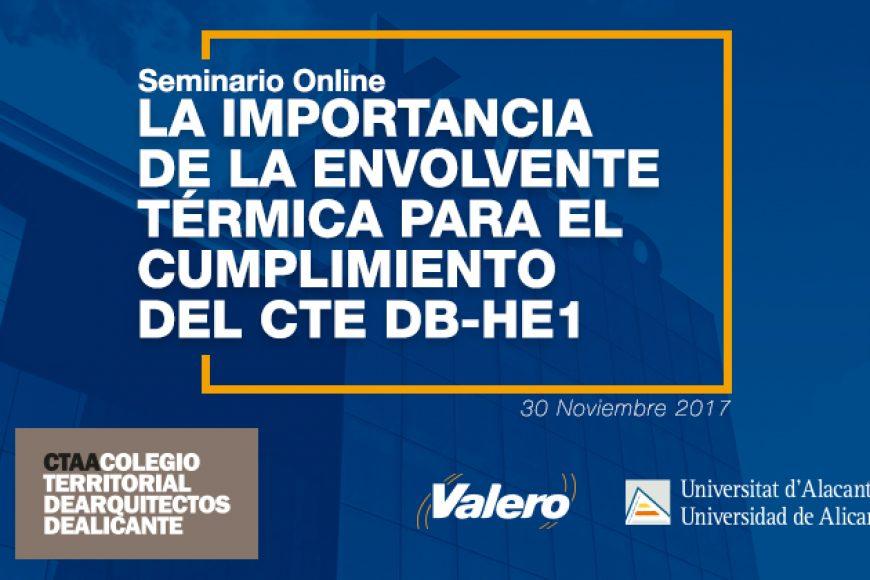 Seminario Online desde Valero para el Colegio Territorial de Arquitectos de Alicante