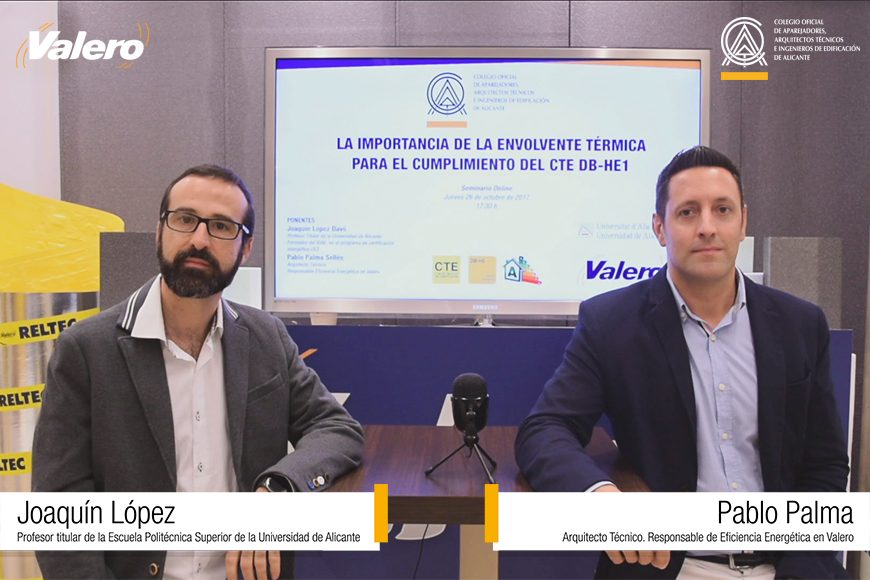 Debut fructífero en el 1º Seminario Online organizado por Valero y el COAATIE de Alicante