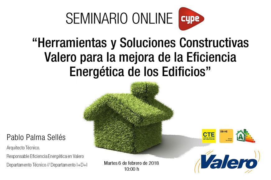 Gran participación en la ponencia impartida por Valero en el Seminario Online organizado por CYPE Ingenieros