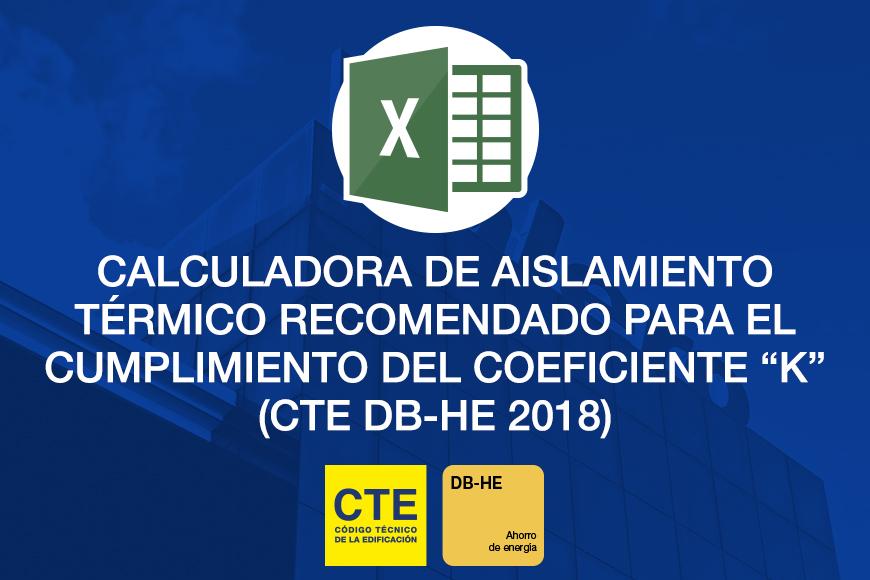 """Valero actualiza su calculadora de aislamiento térmico para fachadas, con el coeficiente """"K"""" del nuevo DB-HE 2018"""