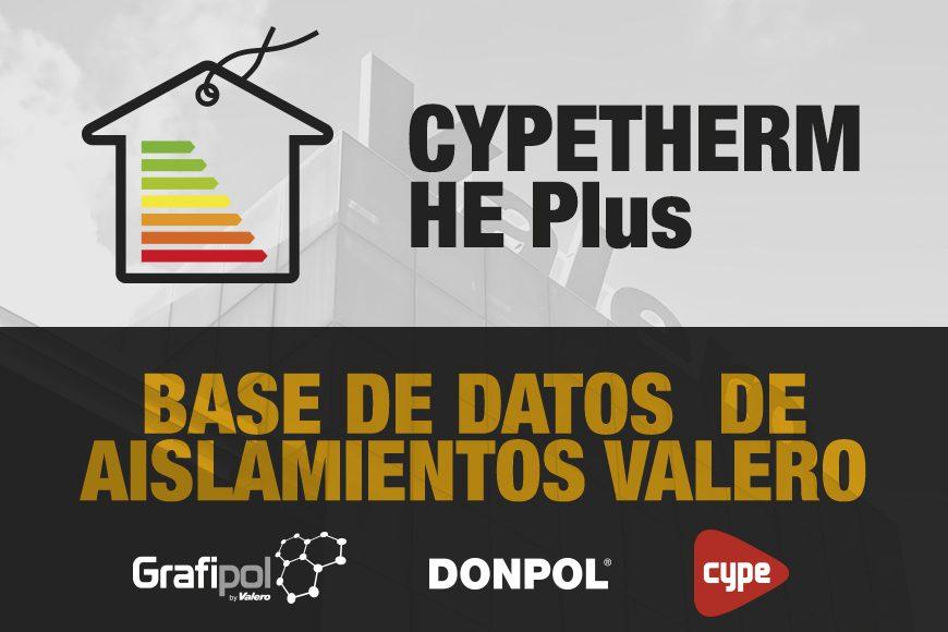 Ya disponible la base de datos de aislamientos Valero para el programa CYPETHERM HE Plus