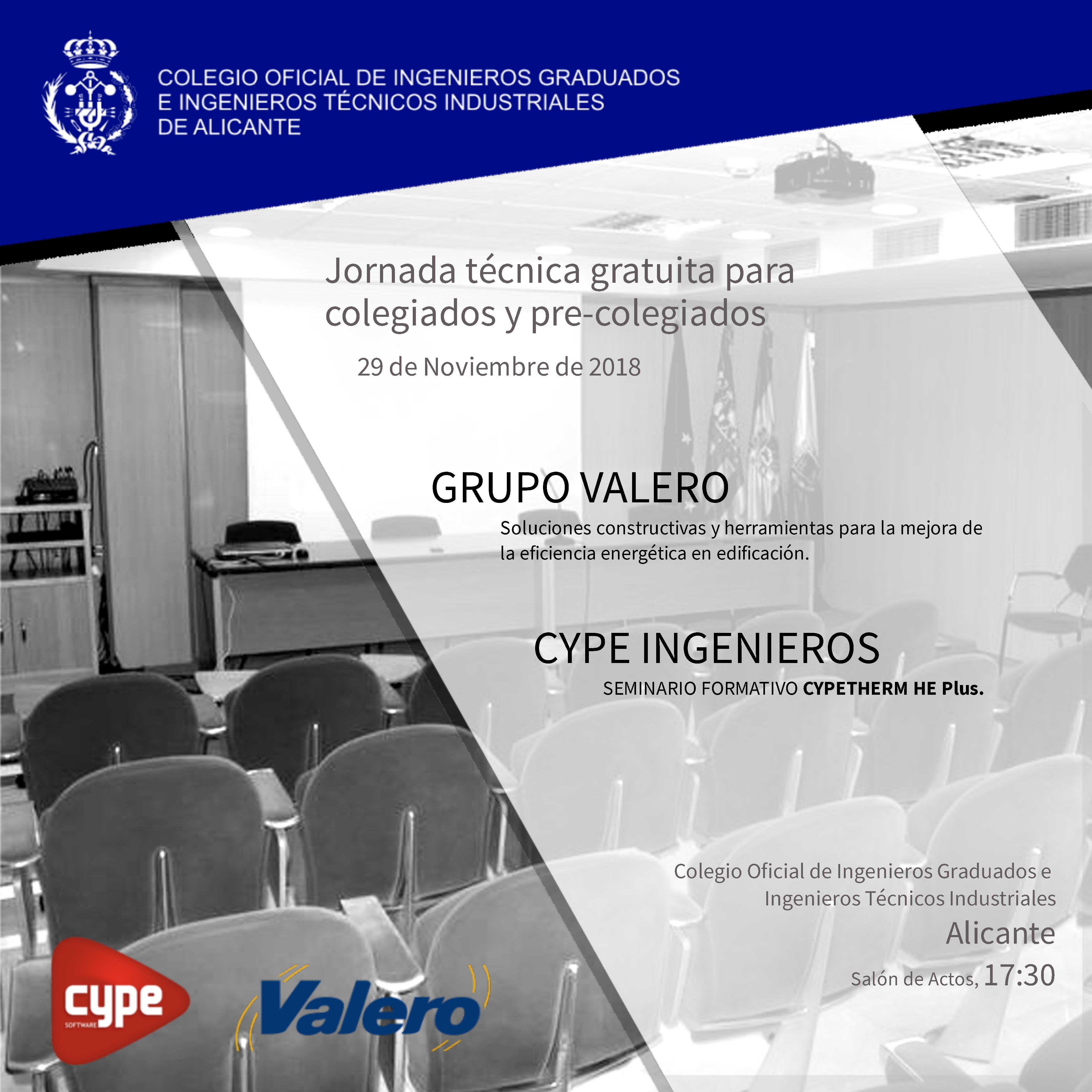 Jornada Técnica conjunta de Grupo Valero y CYPE Ingenieros en el COITI Alicante
