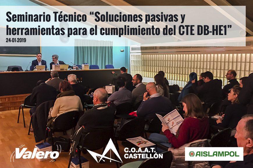 Gran asistencia en la Jornada Técnica impartida por Valero en el COAAT Castellón
