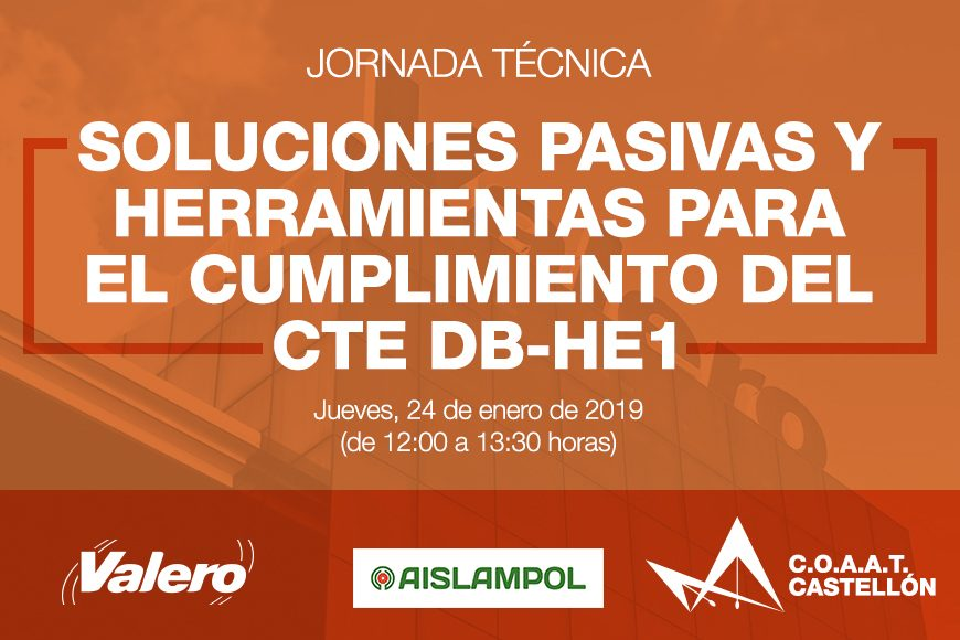 Próxima Jornada Técnica impartida por Valero en el C.O.A.A.T de Castellón