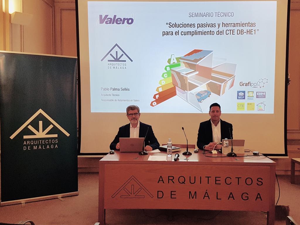 Culminadas con gran éxito las Jornadas Técnicas impartidas por Valero en el COAMU y el COA Málaga