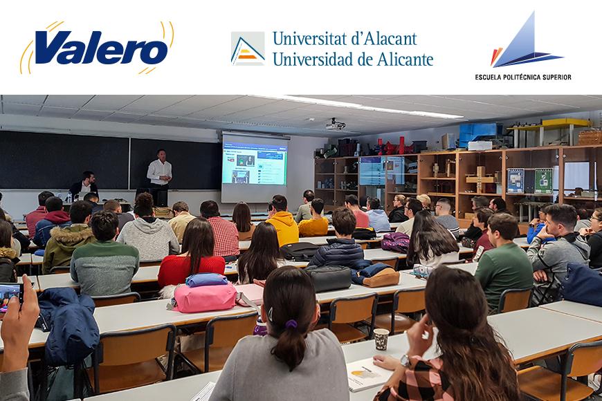 Éxito de participación en la Conferencia realizada por Valero en la Escuela Politécnica Superior de Alicante